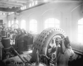 [Construction of main generating room for Buntzen Lake Power Plant number two]