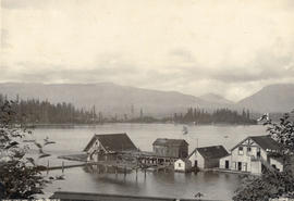 The Inlet, Vancouver [showing the Vancouver Rowing Club buildings]