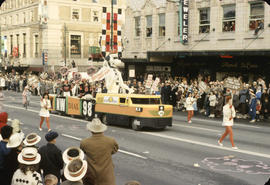 48th Grey Cup Parade, on Georgia and Howe, CKNW radio float
