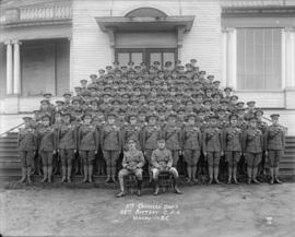 5th Overseas Draft 68th Battery C.F.A. Vancouver, B.C., Oct. 1916