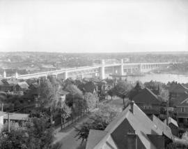 Burrard Bridge [view looking south from Pacific Street near Thurlow Street]