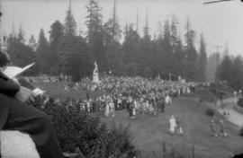 Unveiling of the Burns Memorial in Stanley Park