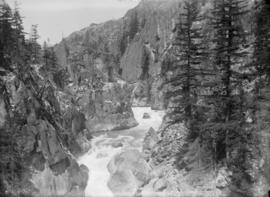 Pacific Great Eastern Railway - first trip to Alta Lake [view of a deep canyon]