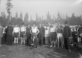 Group of athletes and officials