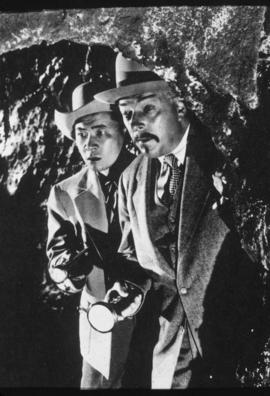 "R. Winters (as Charlie Chan) and V.S. Yung - ""The Mystery of the Golden Eye"" 1948"