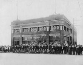 Stettler Cigar Factory Ltd. at 418 W. Georgia, exterior view with staff