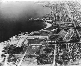 Aerial photograph of hangars at Jericho Beach