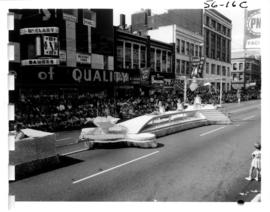 City of Bellingham float in 1956 P.N.E. Opening Day Parade