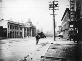 [Hastings Street at Gore Avenue, looking west]