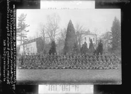 [Group portrait of the 102nd Battalion of the North British Columbians, Canadian Expeditionary Fo...