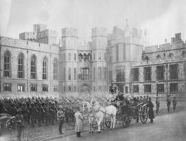 [H.M. Queen Victoria reviewing 2nd (Special Service) Battalion, Royal Canadian Regiment at Windso...