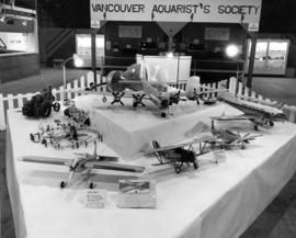 Display of model aircraft entries in 1959 P.N.E. Hobby Show