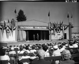 Fashion show on Outdoor Theatre stage