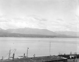 [Looking north across Burrard Inlet towards North Vancouver]