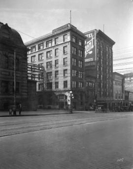 [Hotels on south side of Hastings Street near Main Street]