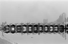 [Boats moored in] winter storage
