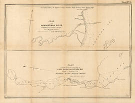 Plan of the Kaminstiquia River and Plan showing survey and soundings of Lake Ellen and Nipigon Bay