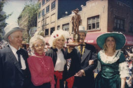 Group dressed in historical costumes
