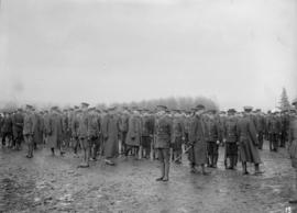 29th Battalion and Yukon Detachment [Soldiers gathered on a field]