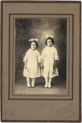Portrait of two girls