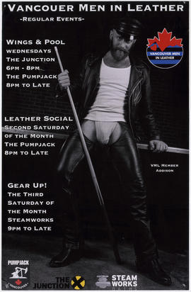 Vancouver Men in Leather : regular events [schedule] : Pumpjack, Vancouver : The Junction : Steam...