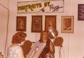 Portraits by Peggy display booth