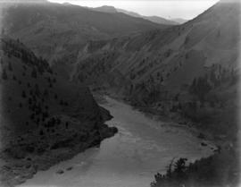 [View from] P.G.E. [Railway of the] Fraser River Canyon