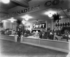 Swift Canadian Co. display of meat and dairy products