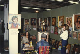 Wonderful World of Art display booth - unidentified portrait artist