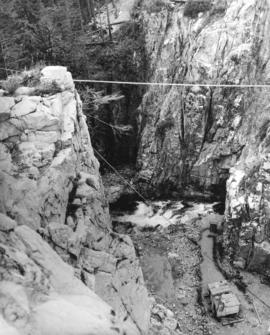 [Capilano Canyon during the construction of the Cleveland Dam]