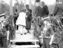 [Lady Byng, Governor General Lord Byng and Mayor L.D. Taylor at Stanley Park ceremony during fare...