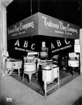 Hudson's Bay Co. display of washing machines
