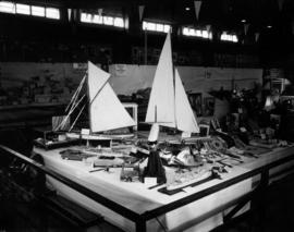 Display of model ship entries in P.N.E. Hobby Show