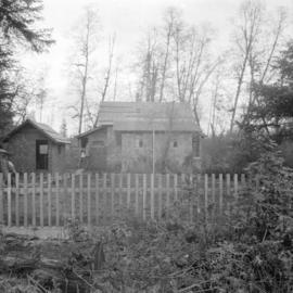 C.J. Piper's cottage [on] Piper [Avenue near] Burnaby Lake