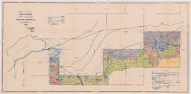 Topographical map of timbered areas situated south of former Merrill-Ring-Moore operation