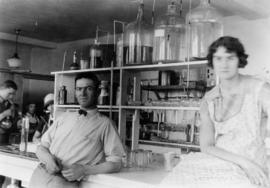 Labs and labs workers - Raymond; Glenn Woolley and Gertie Hicks