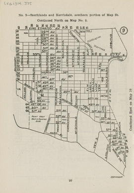 Sectional map and street directory of Vancouver, British Columbia : [West Boulevard to King Edwar...