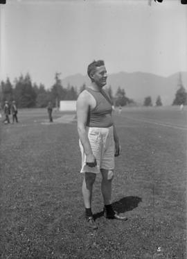 Athlete standing on the field