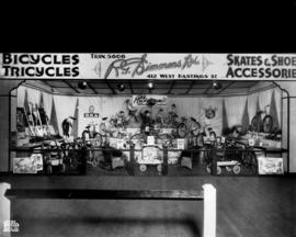 R.G. Simmons display of bicycles and wagons