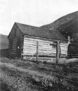 [The first building (a store) in Spences Bridge]