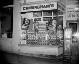 [Bantam Books window display at Cunningham's]