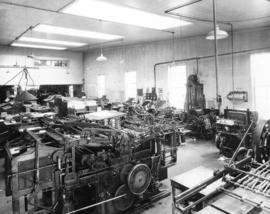 Interior of A. H. Timms Printing office