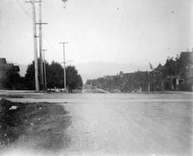 [View of an unidentified street in the West End]