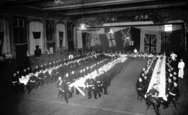 [No. 5 Company, 2nd Battalion, 5th Regiment, Canadian Artillery second annual dinner [in Drill Ha...