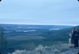 Dawson Creek, Lower Peace River Valley from lookout at Taylor