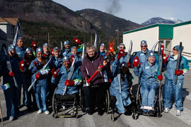 Torchbearers posing together in Lytton, BC [2 of 2]