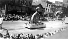 [The B.C. Electric Company float in the Dominion Day Parade]