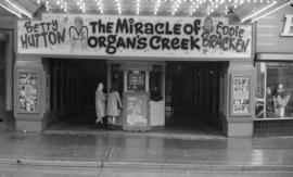 "[Orpheum theatre display for the ""Miracle of Morgan's Creek]"