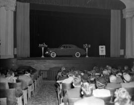 [1949 Mercury from Black's Motors on display at the Strand Theatre as part of the promotion for &...