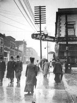 [Hastings and Richards Streets, in the rain]
